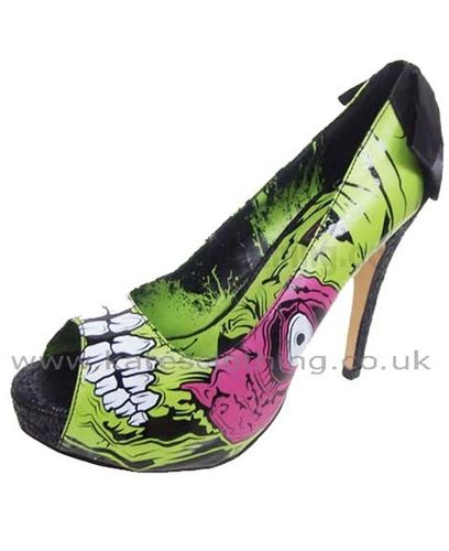 Iron Fist Zombie High Heel Shoes.