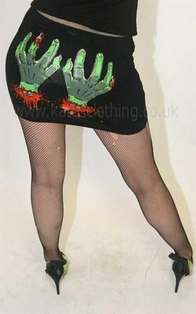 Kreepsville 666 Cold Dead Hands Mini Skirt
