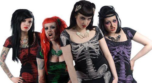 Kreepsville 666 Skeleton Tunic Dresses
