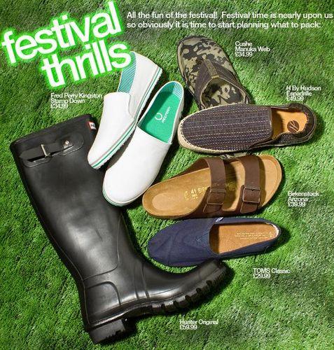 Mens Festival Footwear