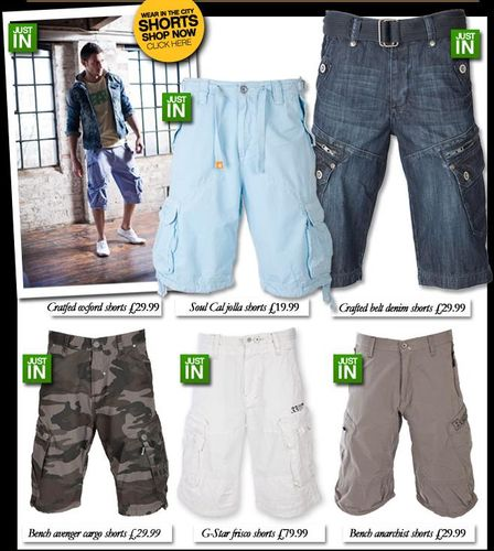 Mens Urban Cirty Shorts
