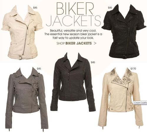 Miss Selfridge Biker Jackets