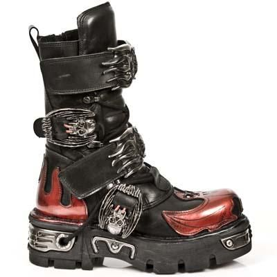 Goth Fashion   on New Rock Boots Are Available In Three Different Colours  Black  Silver