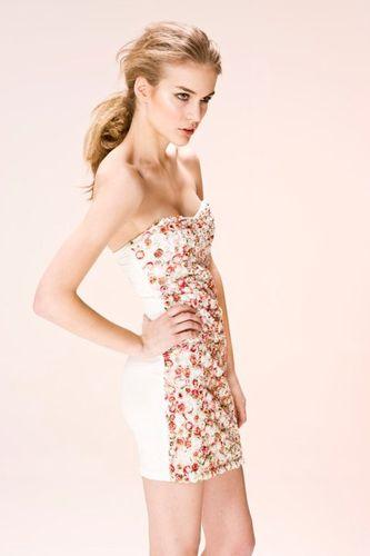 Rare 3D Rose Tube Dress
