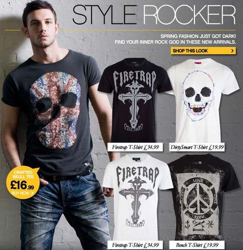 Rock Style Mens T-Shirts