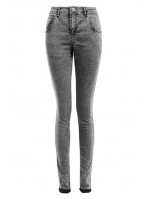 Select Fashion Black Acid Wash Super Soft Skinny Jeans