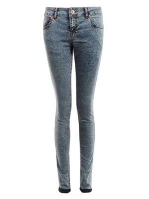 Select Fashion Dark Acid Wash Skinny Jeans