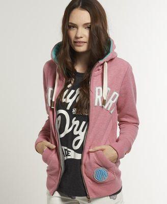 Superdry Polar Applique Zip Hoodie