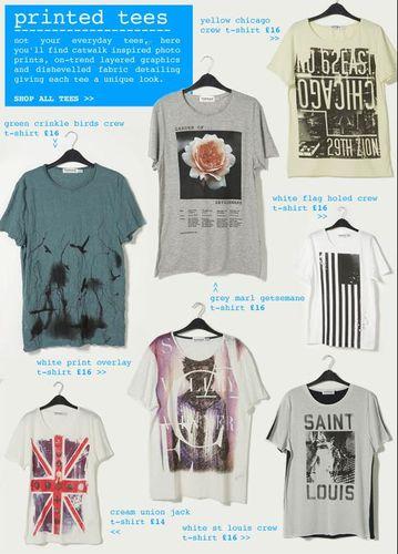 Topman Printed T-Shirts