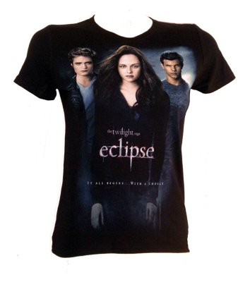 Twilight Eclipse One Sheet Three Shot T-Shirt
