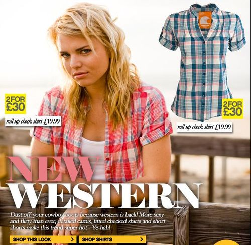 Womens Check Shirts