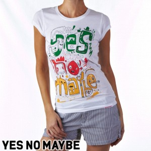 Yes No Maybe Burgerman Womens T-Shirt