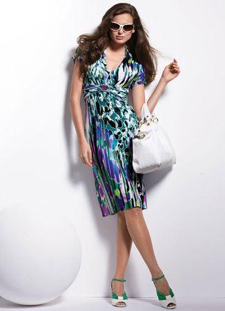 Elegance Multicoloured Jersey Dress