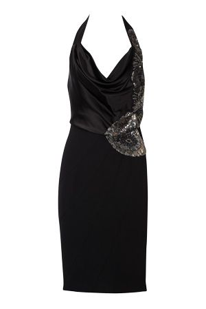 Karen Millen Silk Halterneck Dress