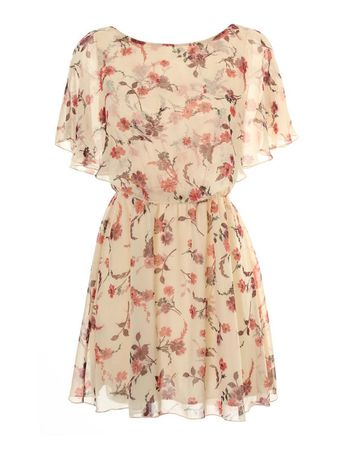 LOVE Katie Print Cape Dress