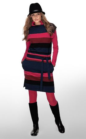 Lacoste Sleeveless Sweater Dress With Removable Belt
