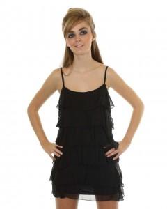Love Black Ruffle Dress