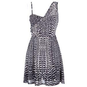 Miso One Shoulder Mesh Pattern Dress