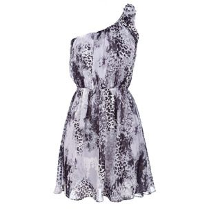 Miso One Shoulder Print Dress