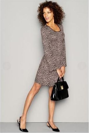Next Animal Print Jersey Dress