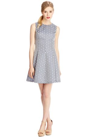 Oasis Jacquard Cutout Dress