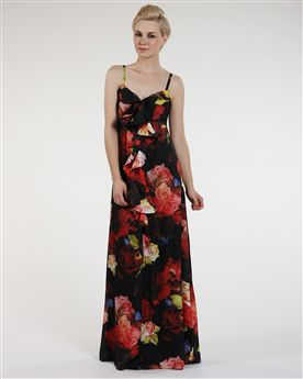 Ted Baker Festini Rose Print Maxi Dress