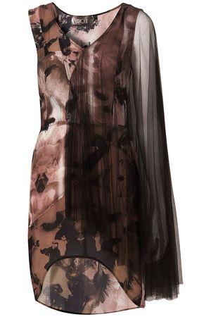 Topshop Unique Angel Print Mesh Dress