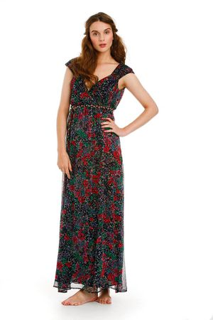 Traffic People Shadow Lands Maxi Dress