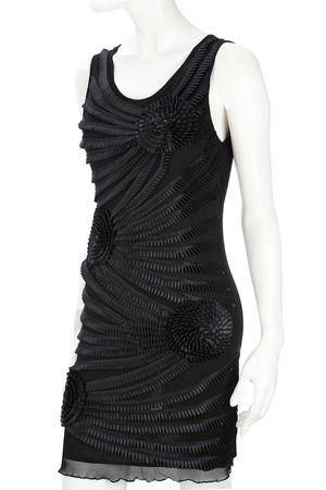 Wallis Black Rosette Dress