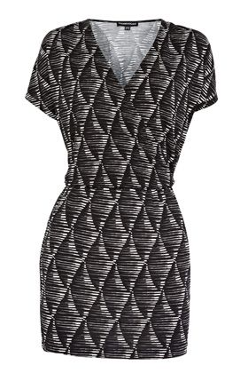 Warehouse Diamond Print Dress