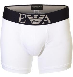 Emporio Armani Logo Stretch Cotton Boxer Trunks