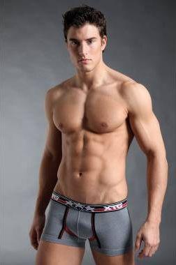 XTG Mens Grey Sport Boxer